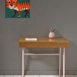 Tigrou, acrylique sur bois 25cm*25cm