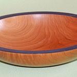 Schale: Kirsche, 30 x 7 cm, Einlassungen: Metallpaste / Preis: 250,00 € (unverkäuflich)