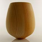 Vase: Zeder, 19 x 14 cm, unbehandelt