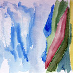 abstrahierte Landschaft 2 (40x30 / 1996 / Aquarell)