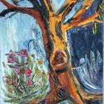 Hüter des Baumes (40x30 / 2016 / Öl)