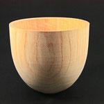 Vase: Esche, 13 x 14 cm, naturbelassen
