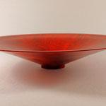 Schale, Ahorn (kein Grünholz), 32 x 6 cm / Wandstärke 0,2 cm, gebeizt und lackiert / Preis: unverkäuflich