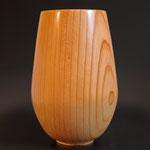 Vase: Zeder, 22 x 14 cm, geölt
