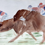 The race (34x24 / 1996 / Aquarell)