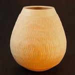 Hollow form - Esche (Grünholz) - strukturiert und geschliffen