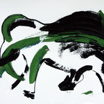 Elephant (61x43 / 1997 /Gouache)
