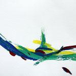 abstrahierte Landschaft 1 (73x51 / 1996 / Gouache)