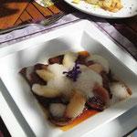 Gsthof Oberlechner Kalbsleber mit vollreifen Pfirsichen Gourmet Südtirol