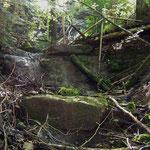 Der Ölbach-Wasserfall, fast wasserlos!