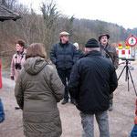 """Exkursion: """"Winterwanderung durch den Bürgerwald"""" am 25.2.2012"""