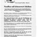 Unterschriften für das LSG DBV/NABU Neuffen
