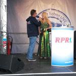 Loreley Theresa im Gespräch mit Ralf Schwoll - Rhein in Flammen 2015