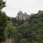 Blick auf Schloß Burg an der Wupper