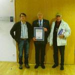 Horst Bartels (Bildmitte) wird Ehrenmeister des VDT, Erfurt 2010