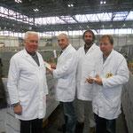 Die PR, von li. Heinz Antrag, Karsten Gehrmann, Nawrotzky und Sven Schweder
