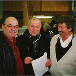 "Die ""Drei Musketiere"" der Großkröpfer, v.links, Dieter Stanke, Helmut Horvath,Dieter Zimmermann    Foto:Stanke"