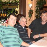 Unsere kroatischen Clubmitglieder, v.l. Pintaric, Holbak u. Dr. Kljucec, F:Stanke
