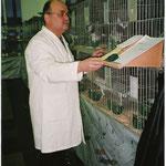 SR Dieter Stanke bei der Arbeit.                                         Foto:Stanke