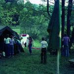 Erstes DBV (Dt. Bund für Vogelschutz) Zeltlager in Langenburg an der Jagst 1978.