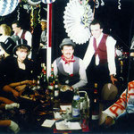 Die Jugendgruppe 1987 beim Theaterfasching in Heilbronn: Günter Glaser, Gerhard Haag, Ute Neutz, Wolfgang Greiss, Thomas Hoffmann v.l.n.r.