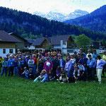 Pfingstfreizeit in Bezau/Österreich mit NAJU Teilnehmern aus dem ganzen Kreis Heilbronn 1991.