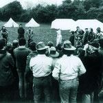 Die Landesjugend der Vogel- und Naturschützer beim 3-tägigen Landesjugendlager in Oedeim (1978)