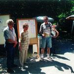 Tag der offenen Tür 1998. V.l. Helmut Weber, Irene Würth und Horst Schulz.