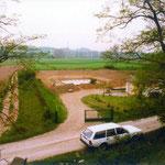 DBV-Ortsgruppe Bad Friedrichshall bei der Pflege des Feuchtbiotops in der alten Kläranlage Kochendorf (1980).