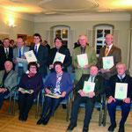 Würdigung ehrenamtlicher Leistungen durch die Stadt Bad Friedrichshall 2010. Preisträger war u.a. der NABU-Einsatzleiter für Landschaftspflege Adolf Bauer.