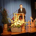 Bürgermeister Peter Dolderer lobte die Verdienste unserer Gruppe.