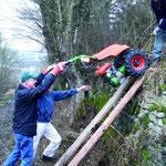 Ganzer Einsatz war gefordert beim Pflegeeinsatz Trockenrasen /Orchideenstandort Widdern mit dem NABU Unteres Jagsttal.