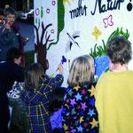 Plakataktion der NAJU auf Landesebene zum Schutz von Flora und Fauna 1992.