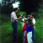 Ein absolutes Highlight im Programm von 1990: Insektenführung mit Winfried Engelhardt.