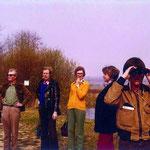 Exkursion ins Naturschutzgebiet Kirchheimer Wasen am Neckar (1977).