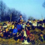 Pflegeeinsatz der Jugendgruppe am Wollmatinger Ried (1982).