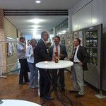 Dr. Lasotta, Werner Wally und Erhard Strehl im Gespräch.