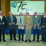 Ehrung von sieben verdienten Ehrenamtlichen mit dem Ehrenamtspreis der Stadt Bad Friedrichshall 2008. Darunter auch unser Paul Haag (3.v.l.). Foto: Fotoatelier Lünig.