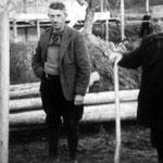 Grundsteinlegung Schule Jagstfeld mit unserem Gründer Baumwart Paul Kleinknecht und Rektor Förch (01.12.1954).