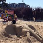 Sandskulptur Elefant