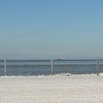 Winter in Duhnen. Blick vom Balkon Ferienwohnung strandkoenig.com
