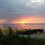 Sonnenuntergang am Strand in Duhnen