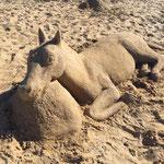 Sandskulptur Pferd