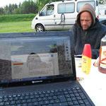 27.06. Camping südlich von Lulea (Abends)