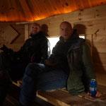 25.06. ...nach dem Essen in der gehizten Hütte