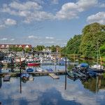 Hafen Bremervörde im Sommer