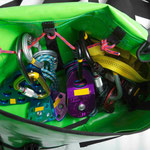 WWTC Raft Thwart bag stuffed with wrap kit