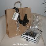"""Emballage cadeau boîte à bijoux """"Esprit Baroque"""" - Réalisation septembre 2010"""