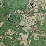 Kaart 1770 - foto stadarchief Brugge