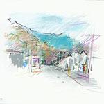 vers La Grande Muraille, Chine-15x21cm-50€-n°18004